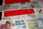 Tkanje iz časopisnega papirja
